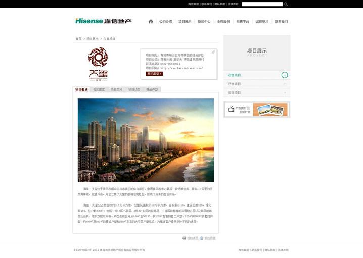 海信地产网站建设