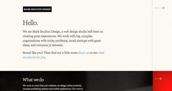 扁平化网页设计Mark Boulton Design