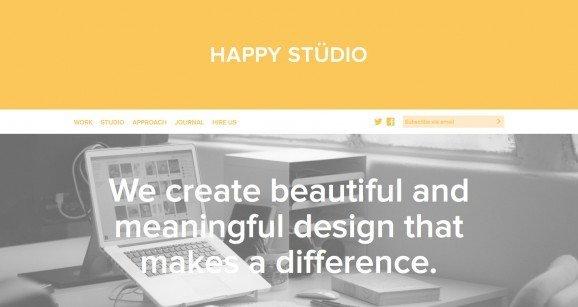 扁平化网页设计Happy Studio