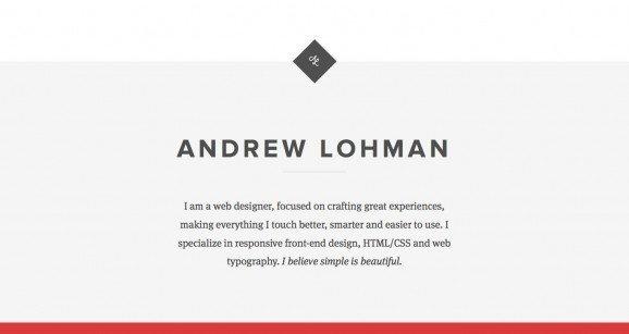 扁平化网页设计Andrew Lohman