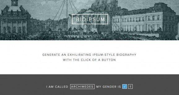 扁平化网页设计bioipsum