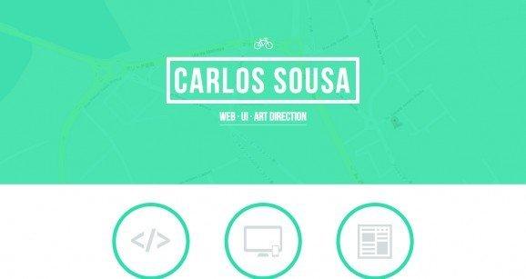 扁平化网页设计Carlos Sousa