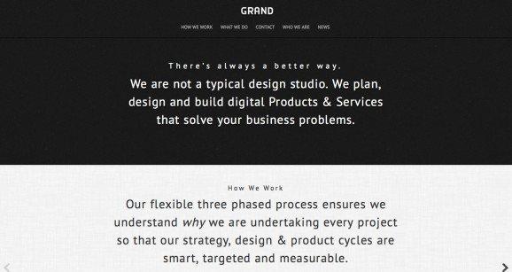 扁平化网页设计GRAND