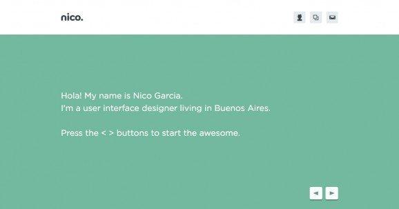 扁平化网页设计Nico Garcia