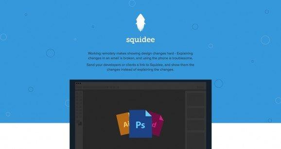 扁平化网页设计Squidee