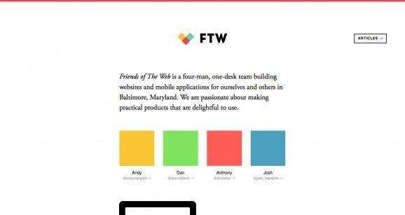 扁平化网页设计FTW